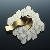 """Untitled Brooch    1996 Silver, pencil, and gold-plated silver.  2"""" (L) x 0.5"""" (W) x 2"""" (H)"""