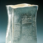 "Container	1989 Electroformed, fabricated and silver-plated.   Silver and copper. 6.3""(L) x 2.8""(W) x"