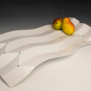 "Fruit Tray 2018 Aluminum and powder coated 23.5""(L) x 11""(W) x 2.3"" (H)"