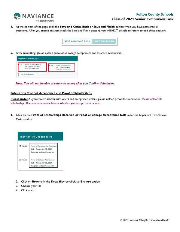 Class of 2021 Senior Exit Survey Task_Pa