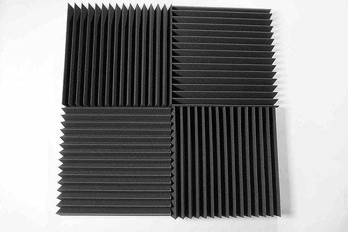 Акустическая панель Пила 100 мм 0,6мХ0,6м  черная