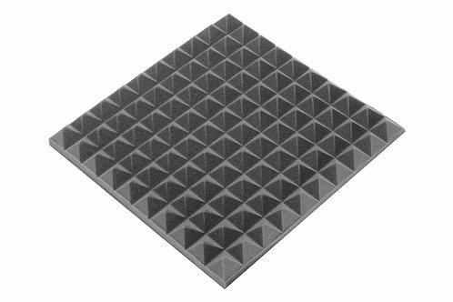 Панель пирамида 50мм Mini,черный графит 50х50см