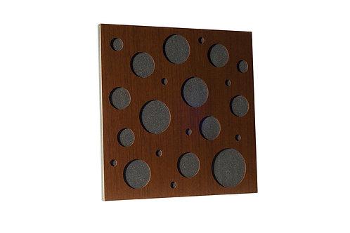 Акустическая панель Ecosound EcoBubble brown 50х50 см 73мм цвет коричневый