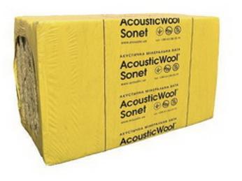 AcousticWool Sonet-50мм  48 кг/м3-Изоляция воздушного шума-цена за метр кв