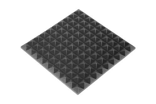 Панель пирамида 30мм Mini, черный графит 50х50см