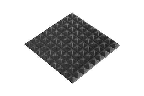 Панель пирамида 30мм Mini, черный графит 45х45см