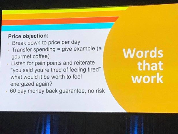 Convention 2018 --Price Objection