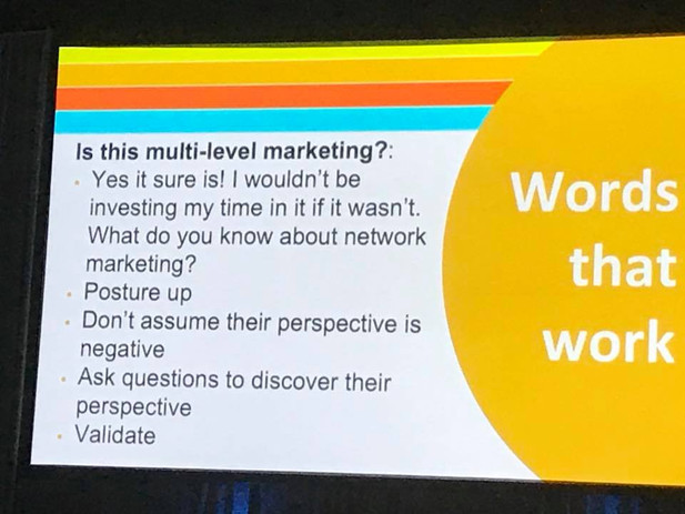 Convention 2018 -- Answering questions about MLM