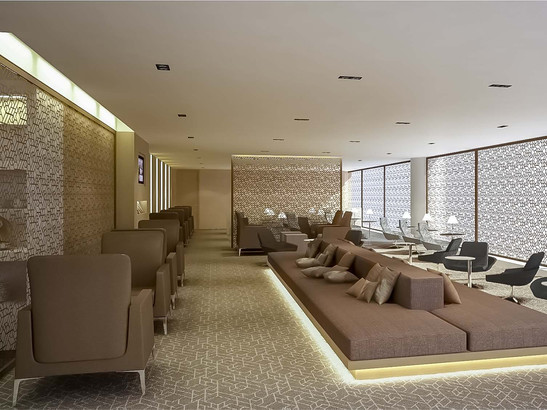 Airport lounge interior design