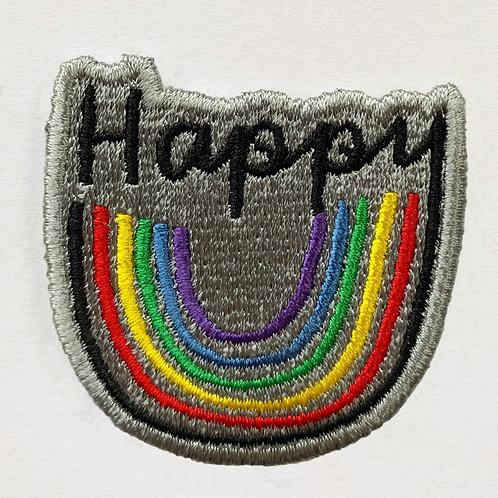 Badge Happy Rainbow