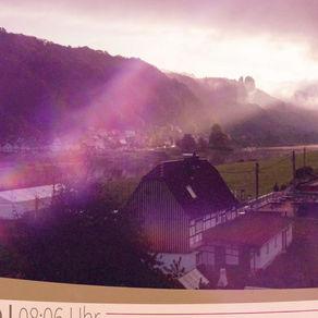 Morgenblick zum Vorderen Torstein in der Sächsischen Schweiz