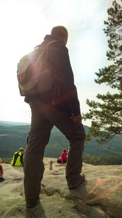 Wanderer auf dem Gipfel