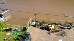 Hochwasser 2013 - Idyllischer Pausenraum während der Aufräumarbeiten