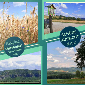 Schöne Panoramaaussicht bei Mittelndorf - Sächsische Schweiz