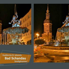 Abends auf dem Marktplatz in Bad Schandau