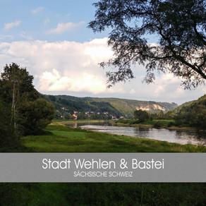 Blick zur Stadt Wehlen und Bastei