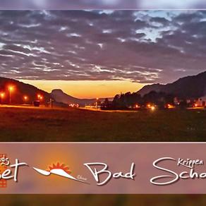 Sonnenuntergang und dunkle Wolken in Bad Schandau