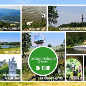 Fahrradtour von  Ceská Kamenice zu den Ferienappartements  Elbaussicht – Krippen über Olischer Teich