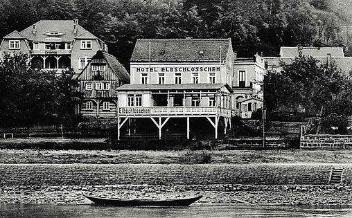 Ansicht des alten Hotel Elbschlösschen