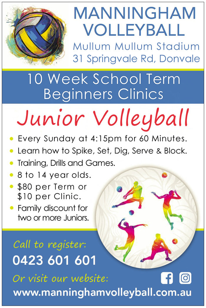 Manningham Volleyball Beginners Clinics