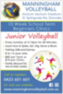 Manningham Volleyball Beginners Clinics
