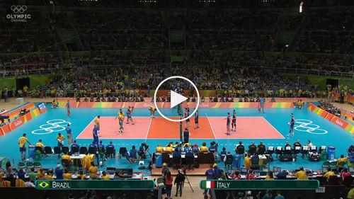 2016 Rio Olympics Men's Volleyball Gold Medal Match Brazil v Italy