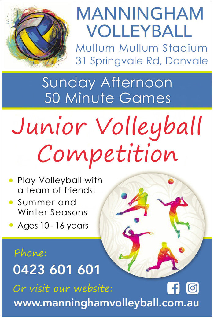 Manningham Volleyball Junior Competition