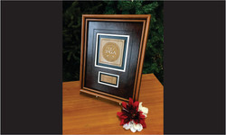Framed Award with Wood and Leather3_Website Image