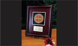 Framed Award with 3d Wood Logo and Leather_Website Image