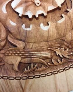 3d Laser Carved Pumpkin1