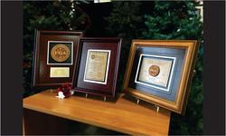 Framed Awards Wood Grouping_Website Image