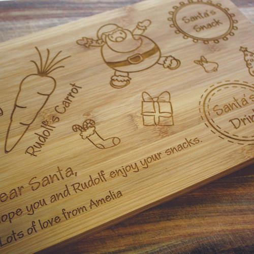 Custom engraved chopping boards thermoart australia santa board urtaz Image collections