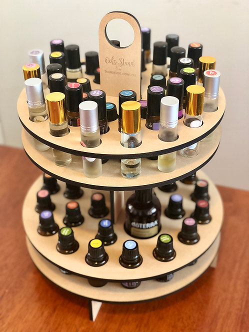2-Tier Essential Oils Rotating Storage Stand