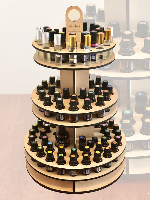 3-Tier Essential Oils Rotating Storage Stand