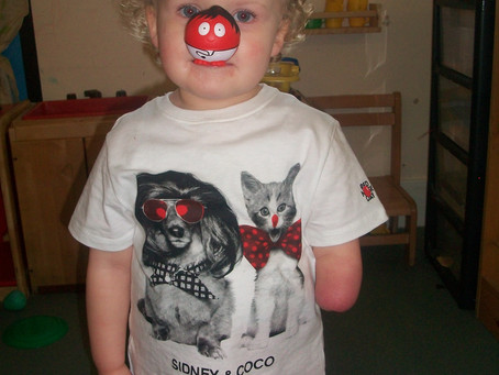 Hemlington Children's Centre Red Nose Day Pictures