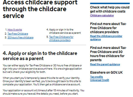 HOW TO APPLY FOR 30 HOUR FREE CHILDCARE STARTING IN SEPTEMBER