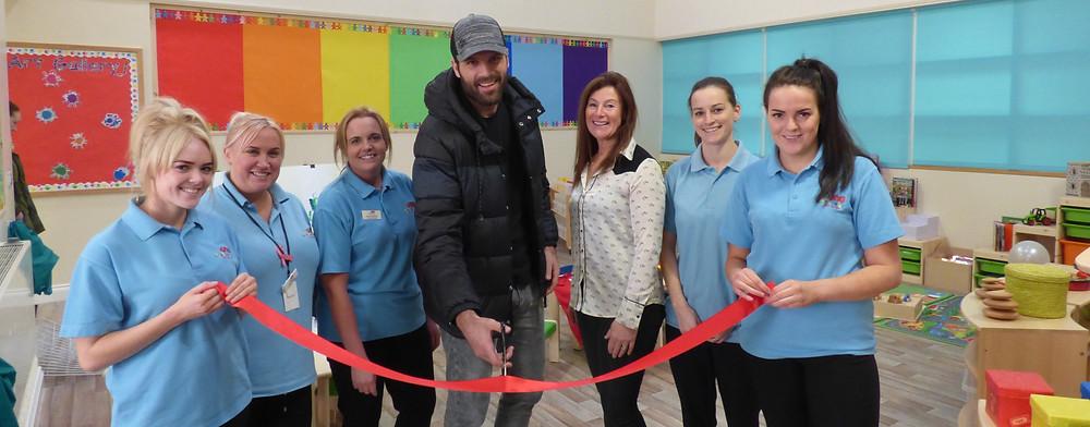 Middlesborough FC Dimi Konstantopoulos opens Rosedene Easterside Hub Nursery
