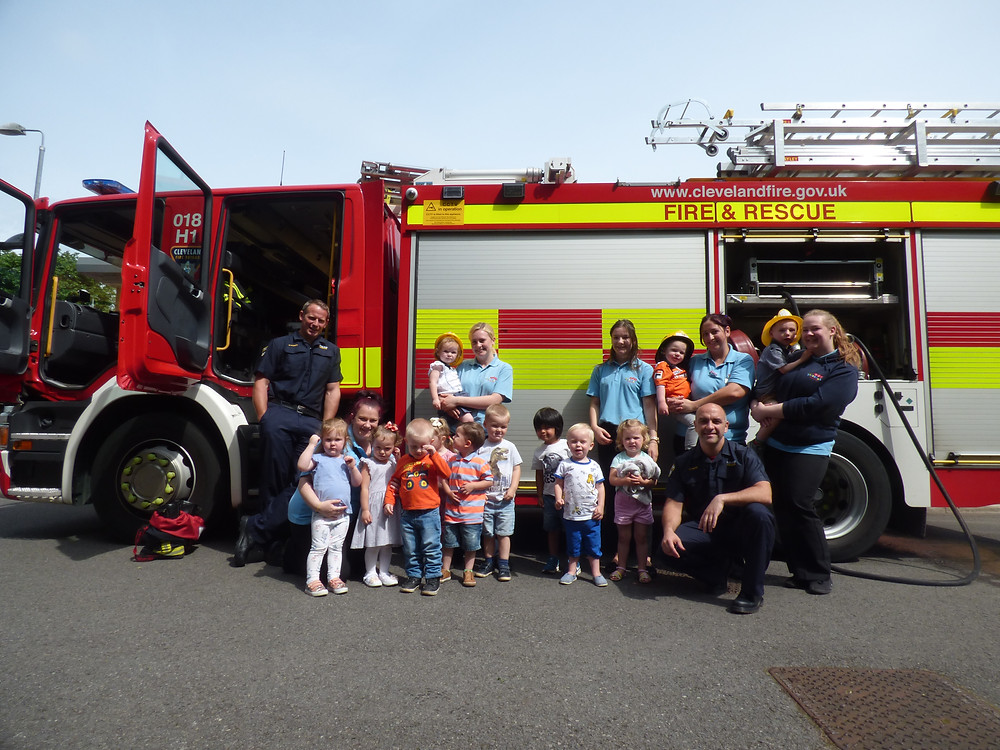 Rosedene Nurseries Hemlington Children's Centre Fire Brigade Visit