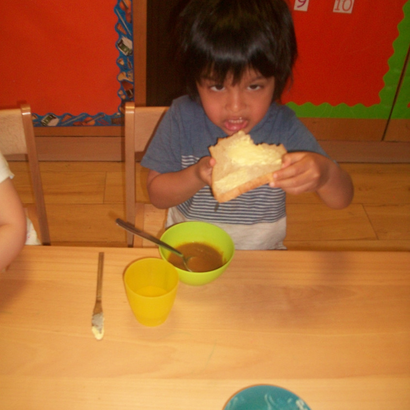 eating vegetable soup (2)