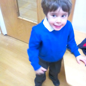 Kyle Frankland's first day at School