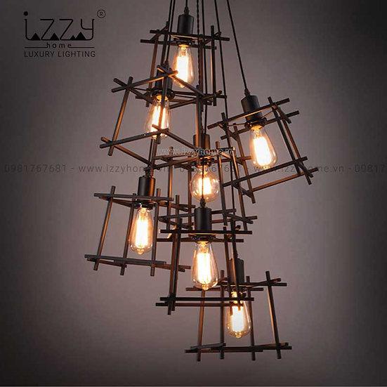 Đèn Sắt Khung Vuông LGC123