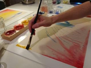 Un moment de créativité en famille à l'atelier Bulle de couleurs !