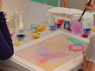 Peinture relationnelle à l'atelier Bulle de couleurs !