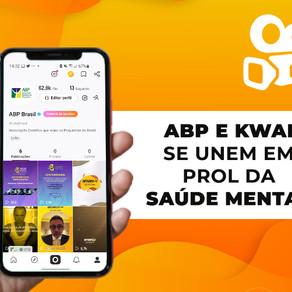 ABP e Kwai fecham parceria para promover campanhas de conscientização sobre saúde mental