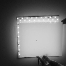 studying backlit panel with no clearance