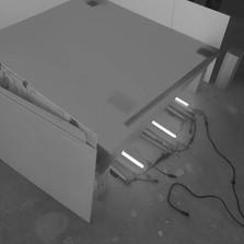backlit floor