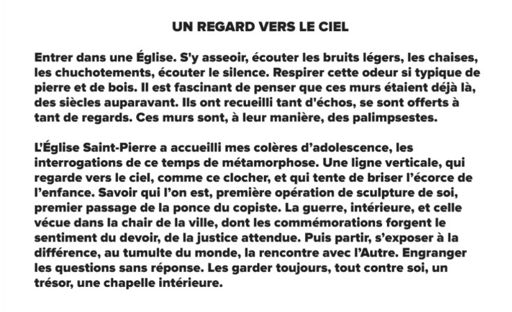 """Exposition """"Un regard vers le ciel"""", à l'Église Saint Pierre de Caen, jusqu'au 12 août 2018"""