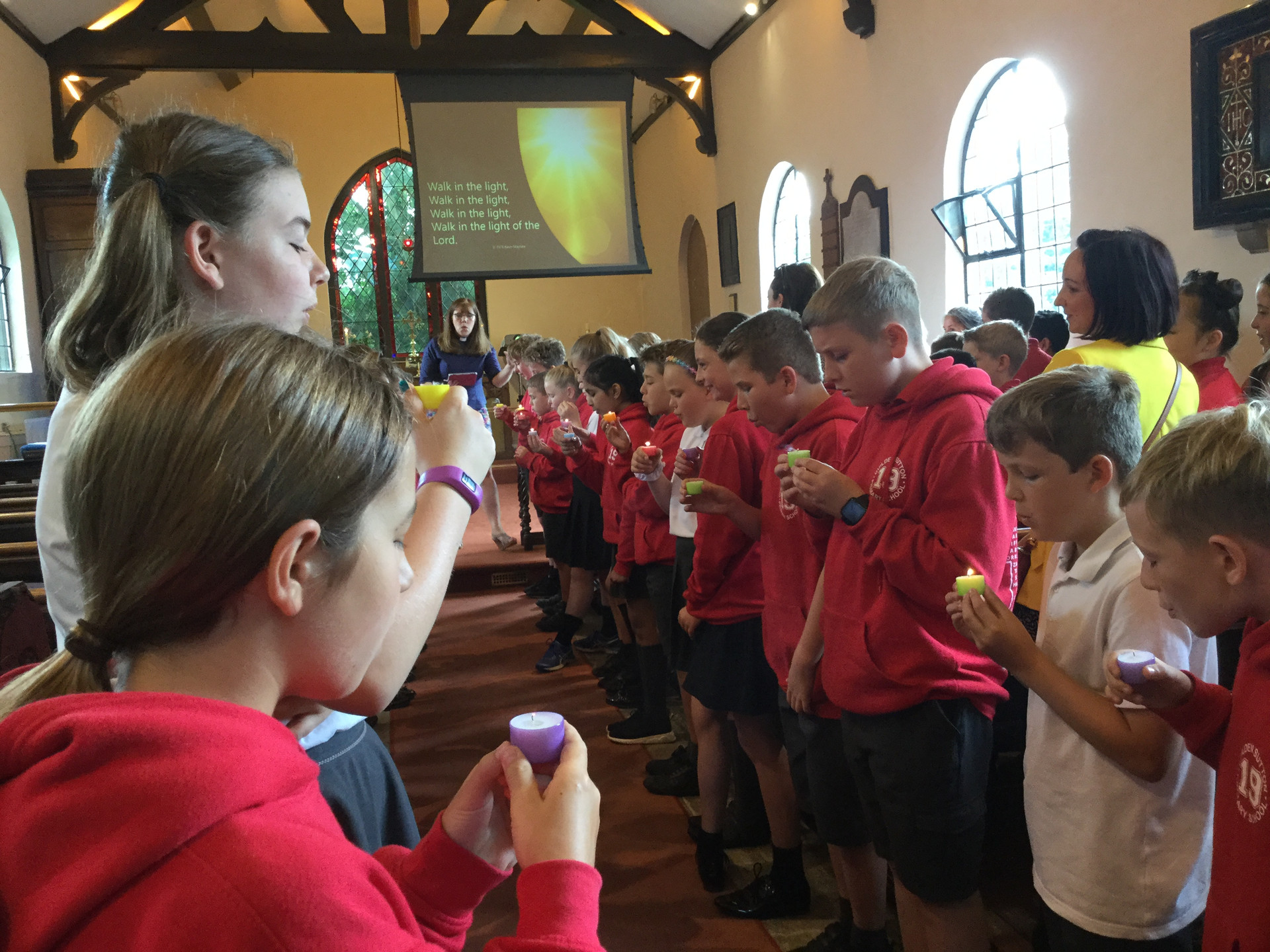 Sending Year 6 to walk and shine with the light of Christ as they move on