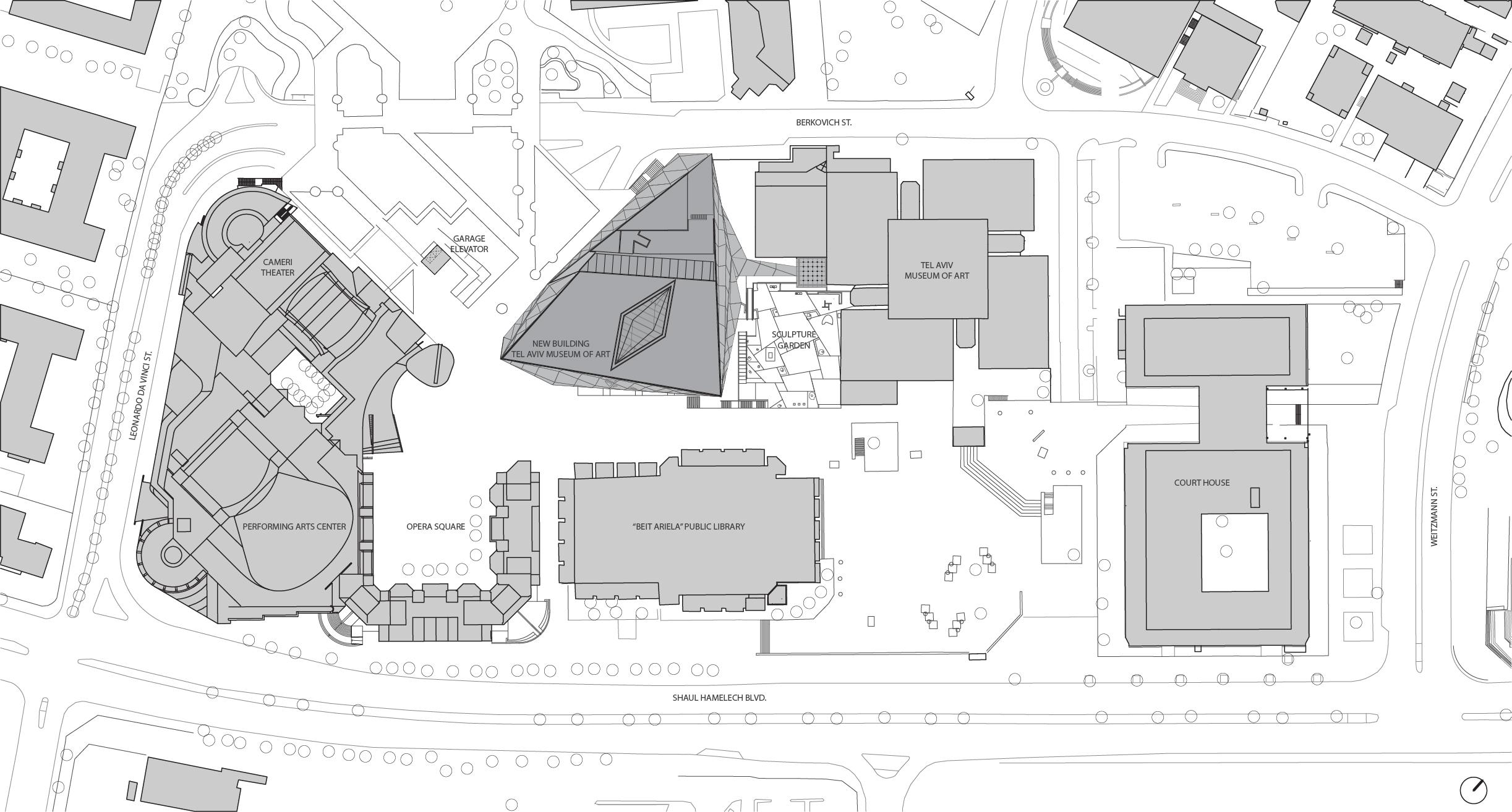 Tel Aviv Museum site plan