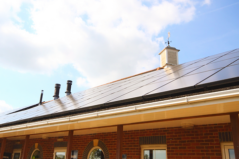 Commercial Solar on roof install by IDDEA.